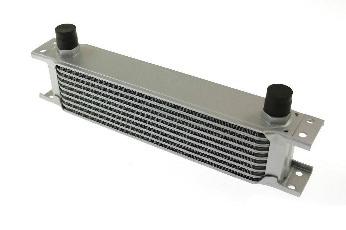 Chłodnica Oleju TurboWorks 9-rzędowa 260x70x50 AN8 silver - GRUBYGARAGE - Sklep Tuningowy